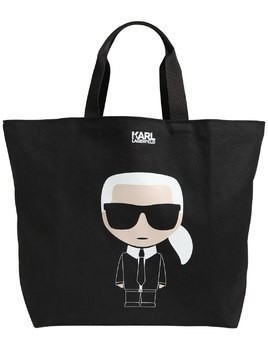 K/IKONIK KARL PRINTED CANVAS TOTE BAG