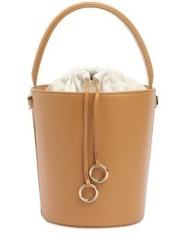BASKET BUCKET LEATHER BAG