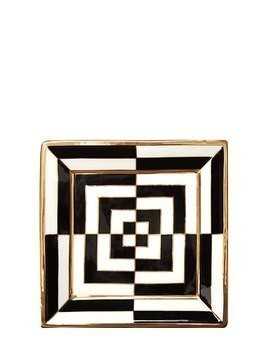 OP ART PORCELAIN SQUARE TRAY