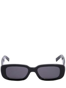 RECTANGLE FRAME ACETATE SUNGLASSES