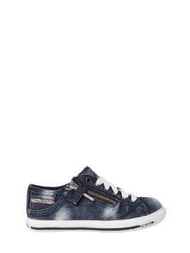 WASHED DENIM SNEAKERS
