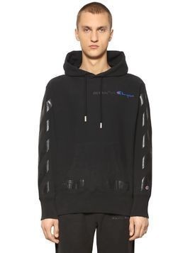 CHAMPION CO-LAB PRINT COTTON SWEATSHIRT