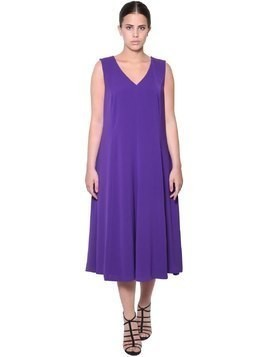 V NECK STRETCH JERSEY DRESS