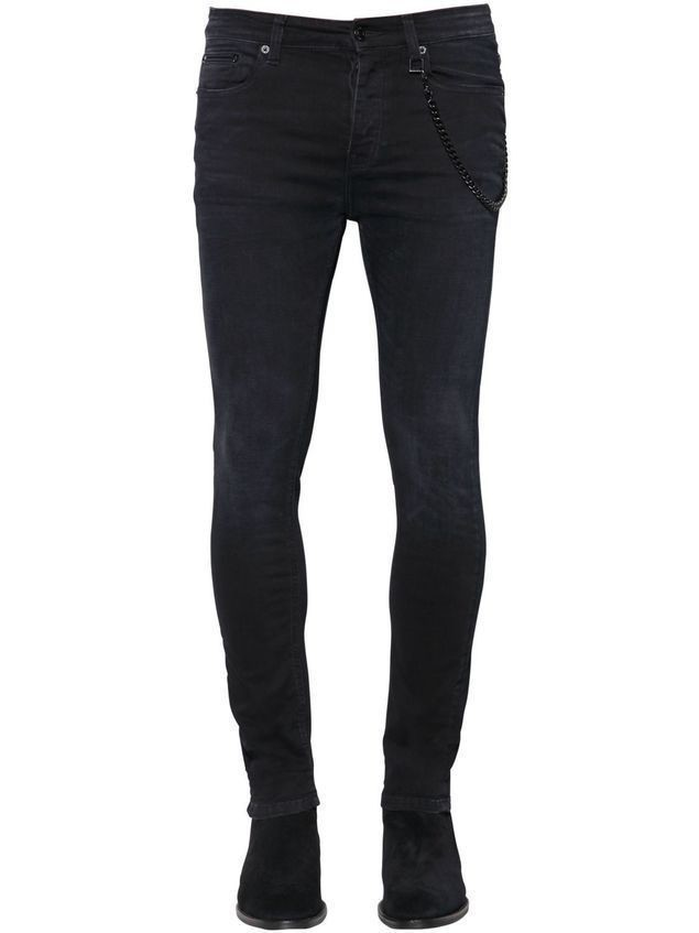 16CM SKINNY STRETCH DENIM JEANS
