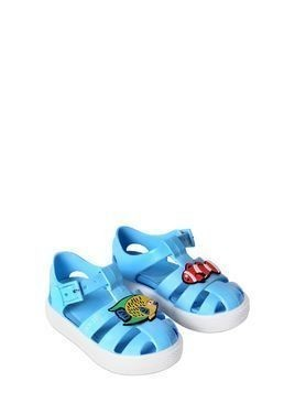 FISH PATCHES RUBBER SANDALS