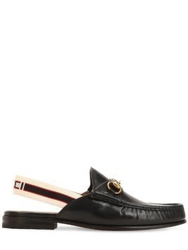 OPEN ROOS LEATHER LOAFERS W/ ELASTIC