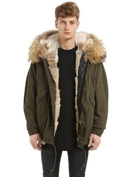 TECHNO SHORT PARKA W/ MURMANSKY FUR