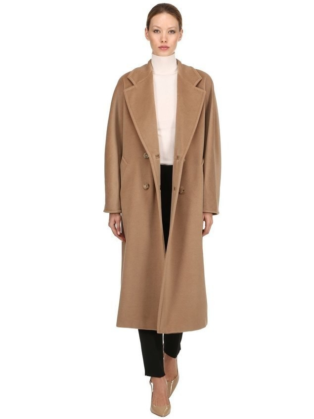 MADAME DOUBLE BREASTED WOOL LONG COAT