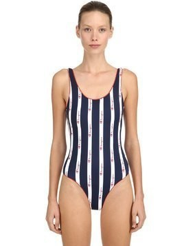 LOGO LYCRA ONE PIECE SWIMSUIT