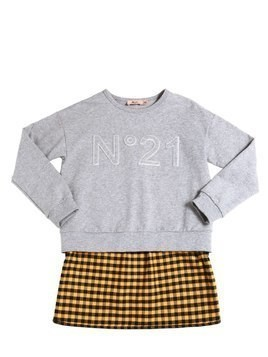 COTTON SWEATSHIRT W/ FLANNEL