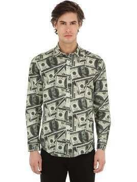 DOLLAR PRINT COTTON SHIRT