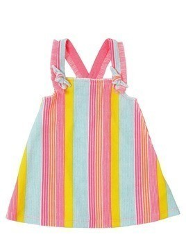 STRIPED COTTON TERRY DRESS