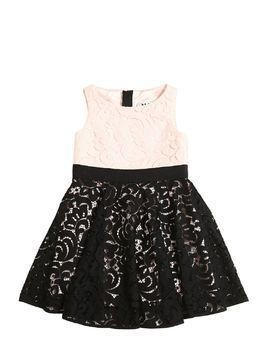 TWO TONE LACE PARTY DRESS