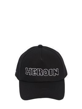HEROIN EMBROIDERED BASEBALL HAT