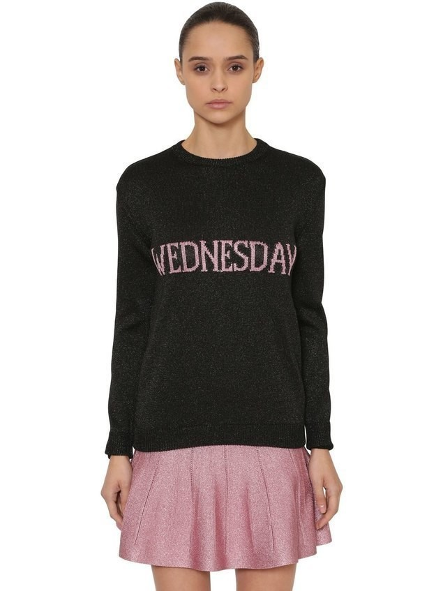 OVERSIZED WEDNESDAY LUREX KNIT SWEATER
