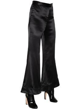 REVOLVER FLARED TEXTURED SILK PANTS