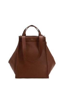 LARGE REVERSIBLE CASHMERE & LEATHER BAG