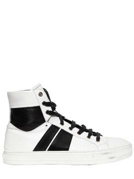 SUNSET LEATHER HIGH TOP SNEAKERS