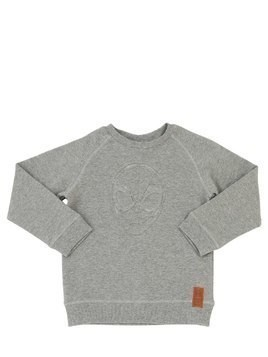 SPIDER EMBOSSED COTTON SWEATSHIRT