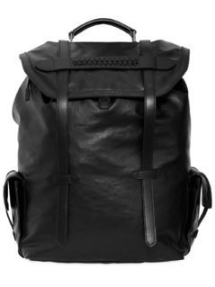 RUBBERIZED FAUX LEATHER BACKPACK