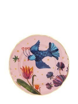 LITTLE BIRD PORCELAIN FRUIT PLATE