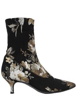 60MM FLORAL PRINT STRETCH SOCK BOOTS