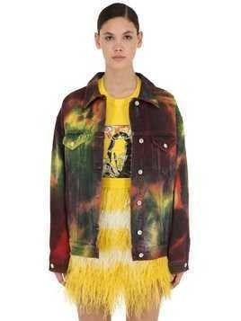 DREAM TIE DYE COTTON DENIM JACKET