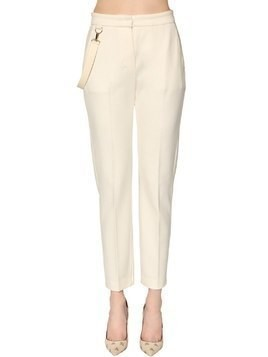 PIUME STRAIGHT LEG WOOL JERSEY PANTS