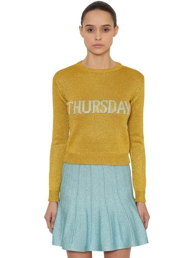 THURSDAY LUREX KNIT SWEATER