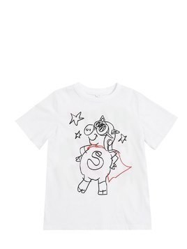 PIG PRINTED COTTON JERSEY T-SHIRT