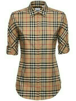 Luka Checked Stretch Cotton Blend Shirt