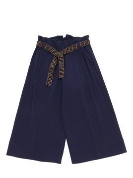 MILANO JERSEY WIDE LEG PANTS W/LOGO BELT