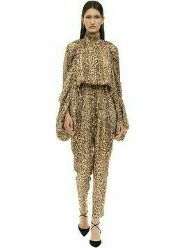 Animal Printed Chiffon Jumpsuit