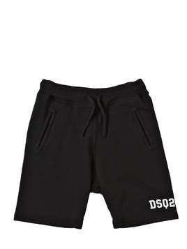 LOGO PRINT COTTON SWEAT SHORTS