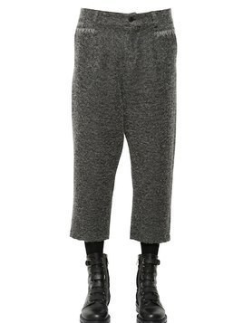 23CM CROPPED WOOL BLEND BOUCLE PANTS