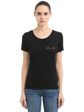 BABY DOLL EMBROIDERED JERSEY T-SHIRT