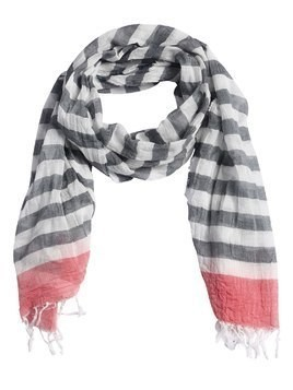 RAW CUT STRIPED COTTON SCARF