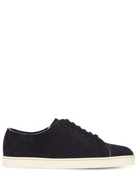 LEVAH UNLINED SUEDE CAP-TOE SNEAKERS