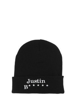 JUSTIN EMBROIDERED BEANIE HAT