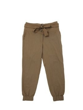 HIGH WAIST COTTON & LINEN PANTS