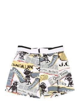 GAZETTE PRINT NYLON SWIM SHORTS