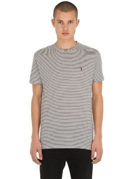 POINT CREW STRIPED COTTON JERSEY T-SHIRT