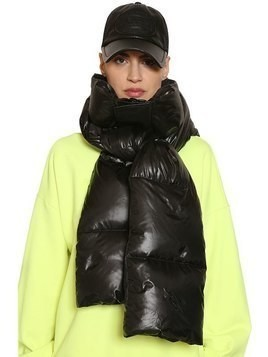 NYLON DOWN HOOD SCARF