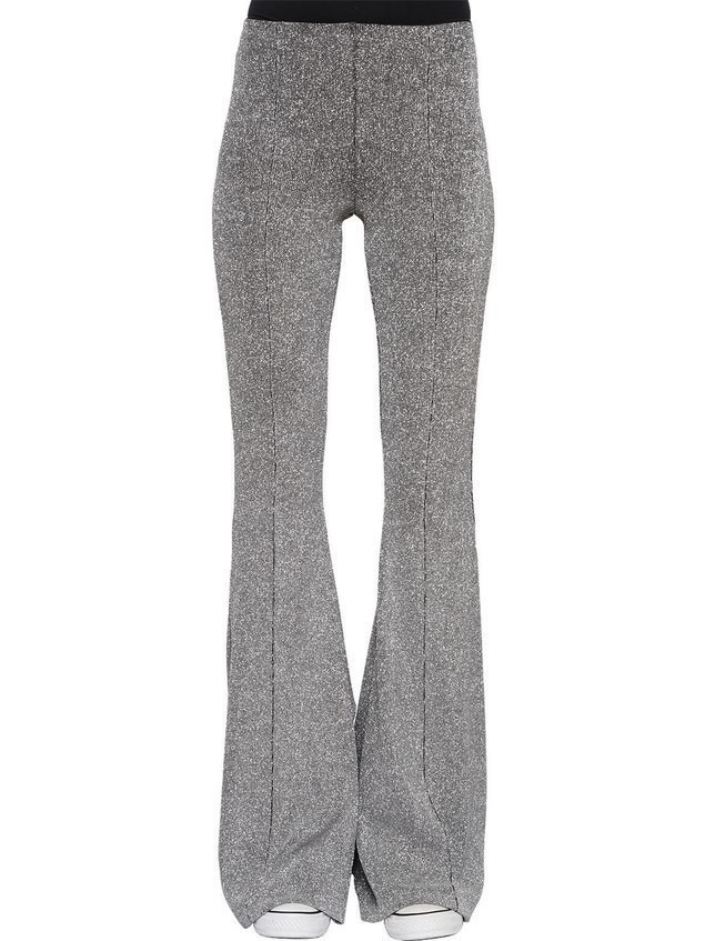 FLARED STRETCH LUREX PANTS