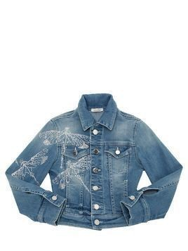 EMBELLISHED STRETCH DENIM JACKET