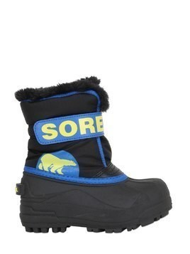 LOGO NYLON CANVAS SNOW BOOTS