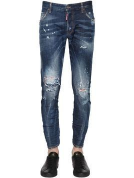 16CM SEXY TWIST STITCHED DENIM JEANS