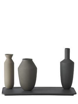 BALANCE SET OF 3 VASES & TRAY