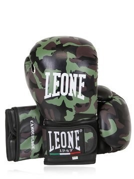 10OZ CAMO FAUX LEATHER BOXING GLOVES
