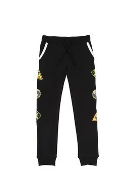 COTTON BLEND SWEATPANTS W/ PATCHES